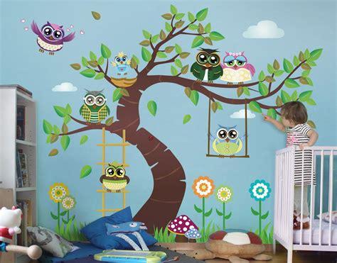 Wandtattoo Kinderzimmer Kaufen by Wandtattoo Kinderzimmer Eule No Yk23 Lustiger Eulenbaum