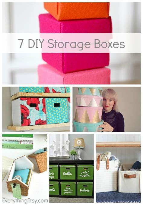 diy storage boxes  organized everythingetsycom
