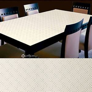 cut to size table protector embossed waterproof and heat absorbent table top protector