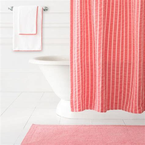 1000 ideas about coral shower curtains on