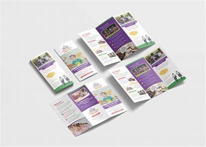 Brochure Fold Tri Template Kindergarten