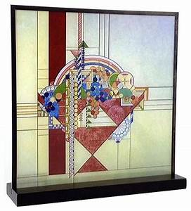 frank lloyd wright may basket stained glass craftsman With kitchen cabinets lowes with frank lloyd wright metal wall art