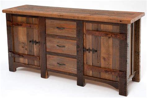 Reclaimed Wood Sideboard, Aged Wood Sideboard, Rustic Decor