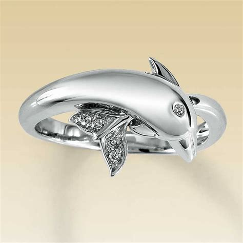 dolphin diamond engagement and wedding ring setting