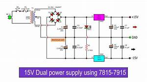 Dual 15v Power Supply Schematic With Pcb   15v