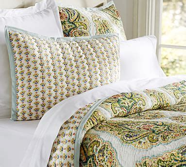 Pottery Barn Coverlets by Quinn Wholecloth Quilt Shams Pottery Barn