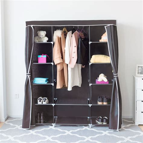 Cloth Storage Wardrobe by Costway Portable Clothes Closet Non Woven Fabric Wardrobe