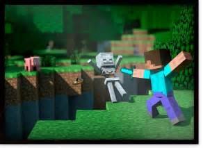 quadro jogo minecraft steve batalha