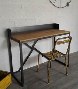 Bureau Style Industriel : bureau style industriel sur mesure ref boston heure cr ation ~ Teatrodelosmanantiales.com Idées de Décoration