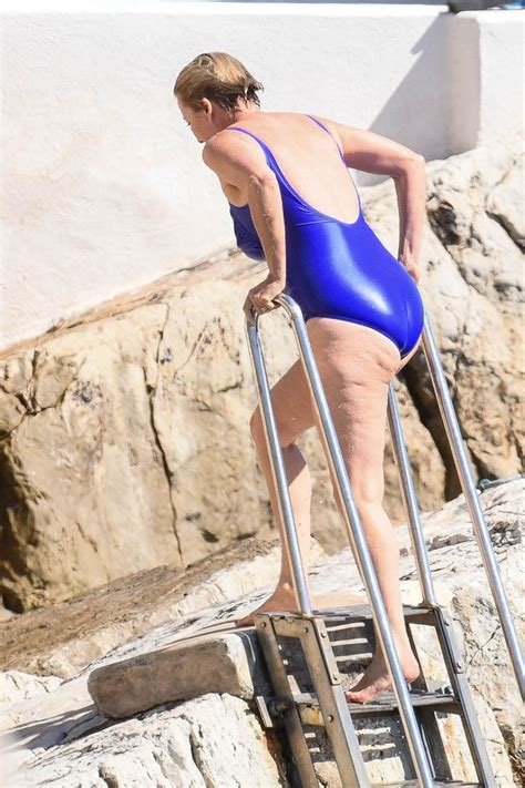 emma thompson swimsuit emma thompson 58 looks sensational in slinky swimsuit