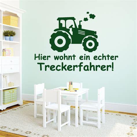 Wandtattoo Kinderzimmer Junge Traktor by 10938 Wandtattoo Loft Aufkleber Trecker Schriftzug Jungs