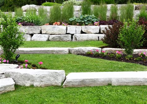 Using Armour Stone To Build A Retaining Wall