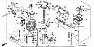 Honda Atv 2005 Oem Parts Diagram For Carburetor