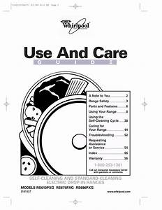 Download Free Pdf For Whirlpool Rs675pxg Range Manual