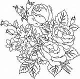 Roses Adults Coloring Printable Flowers Flower sketch template