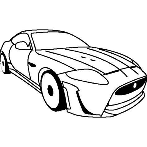 jaguar car pages coloring pages