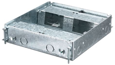hubbell hblcfb401base 4 gang shallow raised floor box for