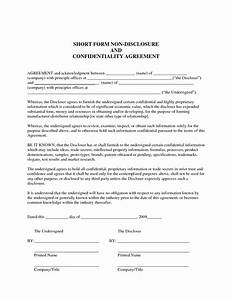 Sample non disclosure agreement confidentiality for Confidentiality policy template