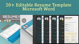 2020 Best Resume Templates 20 Editable Resume Template Microsoft Word Download Now