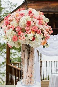 Coral Rustic Wedding Centerpieces