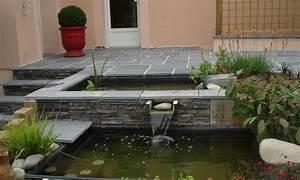 Bassin De Terrasse : terrasse avec bassins et cascade ~ Premium-room.com Idées de Décoration