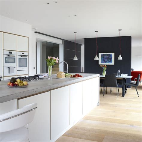 white open kitchen open plan kitchen design ideas open plan kitchen ideas 276 | White hi gloss open plan kitchen
