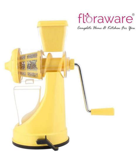 juicer floraware manual yellow