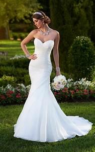 organza fit and flare corset wedding dress stella york With stella wedding dress