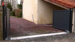 Fixation Portail Battant : portail alu moteur enterre youtube ~ Premium-room.com Idées de Décoration