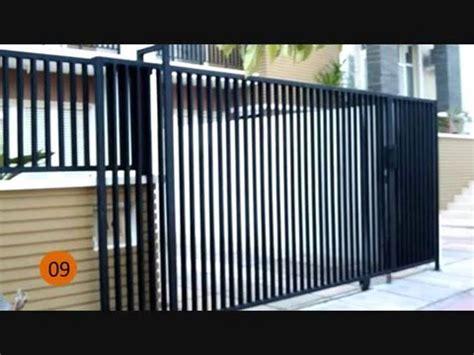 contoh gambar pagar rumah minimalis sederhana youtube