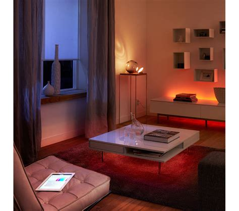 philips hue bloom dimmable led smart table l philips hue bloom wireless led table l deals pc world