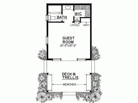 bedroom guest house plans  home plans design