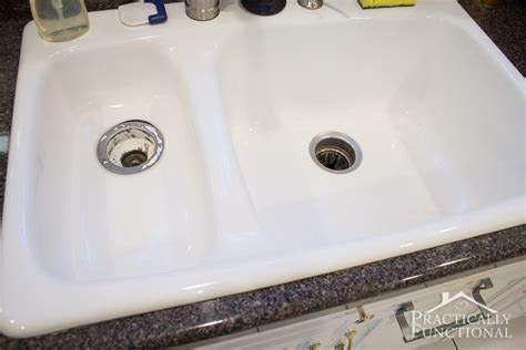 how to clean a stained sink how to clean a porcelain sink including the stains and