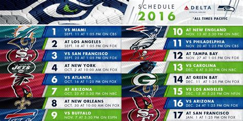 seahawks  schedule  packed  goodness hawk blogger