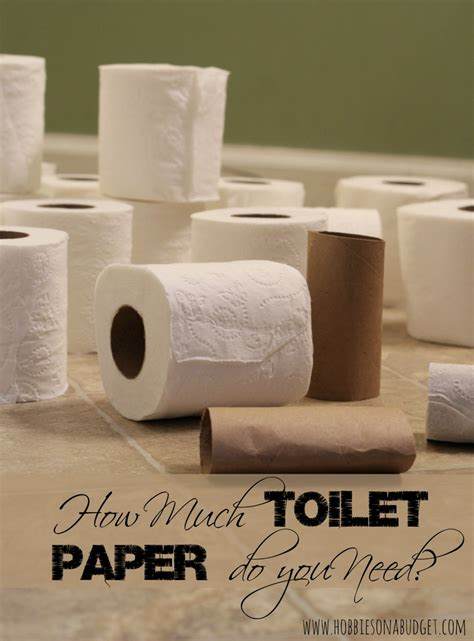How Much Toilet Paper Do You Need Hobbies On A Budget