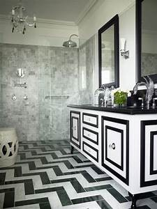 Black and white bathroom floor tile - large and beautiful ...