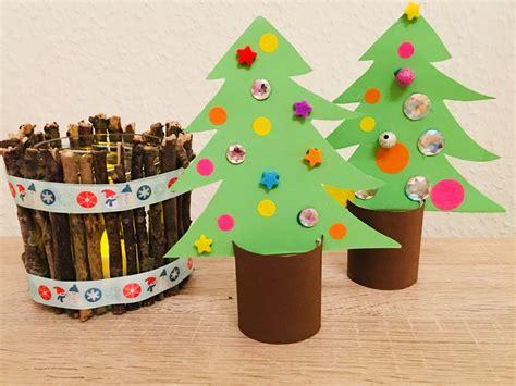Weihnachtsdeko Für Fenster Basteln Mit Kindern by Weihnachtsb 228 Ume Aus Toilettenpapierrollen Basteln Mit