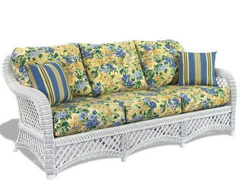 White Wicker Loveseat by White Wicker Sofa Lanai Wicker Paradise