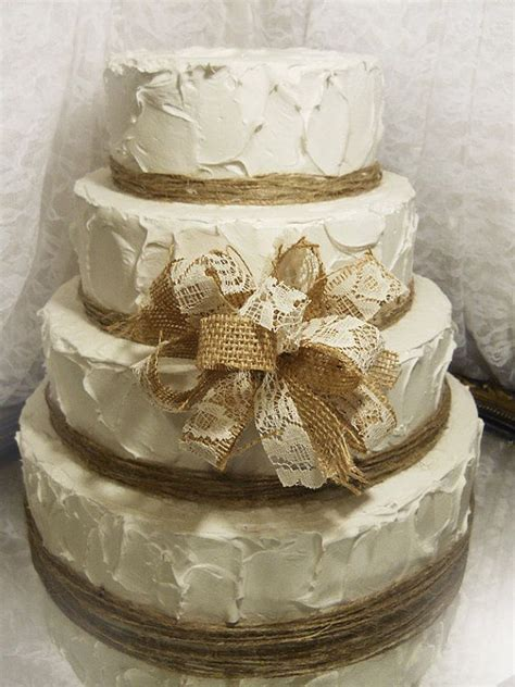 southern blue celebrations burlap lace cake ideas