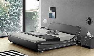 Lit design avec sans matelas groupon shopping for Chambre design avec sur matelas memoire de forme 90x190