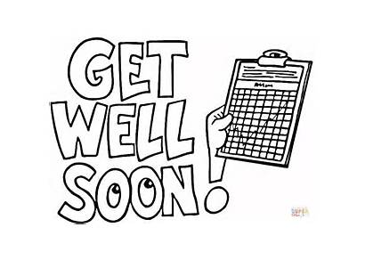 Hospital Soon Coloring Well Pages Printable Cards