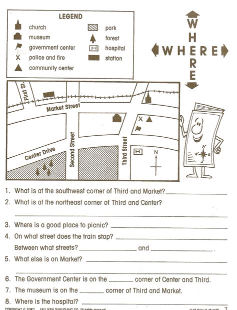 worksheet cardinal directions worksheet worksheet