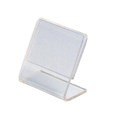 porta etichette porta etichette plexiglass 5 x 4 cm pack da 10 porta