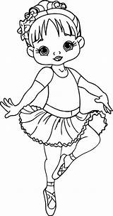 Coloring Pages Ballerina Cartoon Dance sketch template