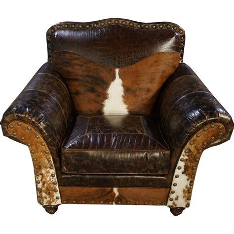 Cowhide Club Chair by West Cowhide Club Chair