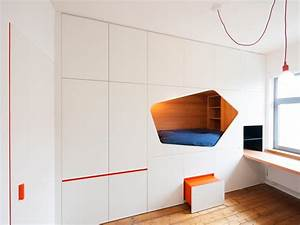 Built in Bed Design Bed inside the wall for maximum space