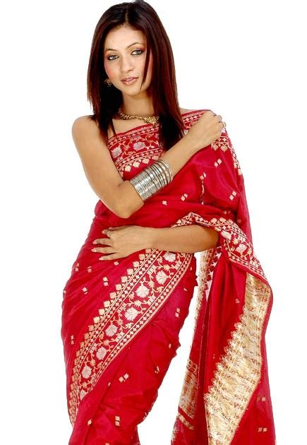 Indian Model Red Saree Latest HD Wallpaper