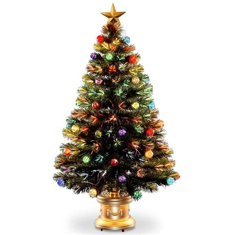 balled christmas tree national tree company 4 ft fiber optic fireworks artificial tree with ornaments
