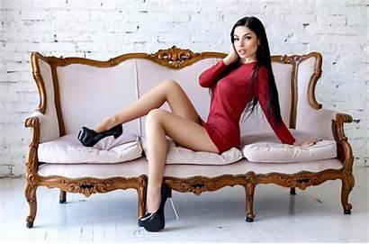Heels Legs Hair Couch Sitting Short Sofa