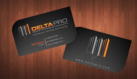 Whether you're on a job site or at a trade show, it's important that your business cards can stand up to rough conditions. Elegant, Serious, Construction Business Card Design for Delta Pro Industries Pty Ltd by Sbss ...